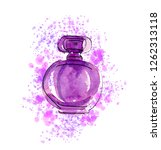 hand drawn sketch with violet...   Shutterstock . vector #1262313118
