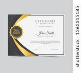 certificate vector template   Shutterstock .eps vector #1262315185