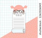 tiny cartoon nerdy funny... | Shutterstock .eps vector #1262326045
