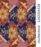 endless patchwork pattern in... | Shutterstock . vector #1262326528