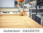 machine wood millng working cnc ... | Shutterstock . vector #1262333725