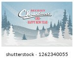 winter christmas forest | Shutterstock .eps vector #1262340055