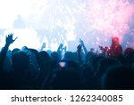 new year concept   fireworks... | Shutterstock . vector #1262340085