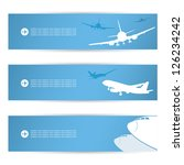 Air traffic banners - vector illustration - stock vector