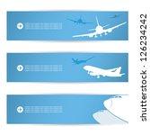 air traffic banners   vector...