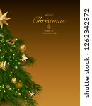 christmas tree with xmas... | Shutterstock .eps vector #1262342872