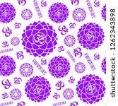 sahasrara. chakras seamless... | Shutterstock .eps vector #1262343898