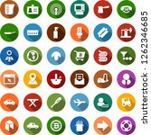 color back flat icon set  ... | Shutterstock .eps vector #1262346685