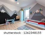 modern bedroom for boy and girl ... | Shutterstock . vector #1262348155