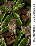 camouflage seamless pattern.... | Shutterstock .eps vector #1262353195