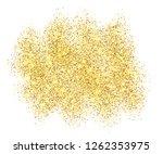 gold glitter sand frame... | Shutterstock . vector #1262353975