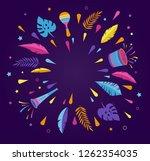 brazilian carnival  music... | Shutterstock .eps vector #1262354035