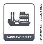 Paddlewheeler Icon Vector On...
