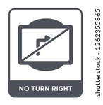 no turn right icon vector on... | Shutterstock .eps vector #1262355865