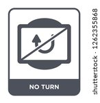 no turn icon vector on white... | Shutterstock .eps vector #1262355868