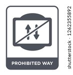 prohibited way icon vector on... | Shutterstock .eps vector #1262355892