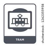 tram icon vector on white... | Shutterstock .eps vector #1262355958