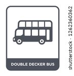 double decker bus icon vector... | Shutterstock .eps vector #1262360362