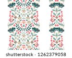 floral set seamless borders for ... | Shutterstock .eps vector #1262379058