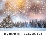majestic winter landscape with... | Shutterstock . vector #1262387695