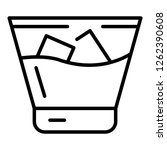 cold whiskey glass icon.... | Shutterstock .eps vector #1262390608