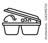 lunch plastic box icon. outline ... | Shutterstock .eps vector #1262390722