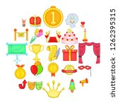 honor icons set. cartoon set of ... | Shutterstock .eps vector #1262395315
