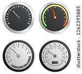 speedometer icon set. realistic ... | Shutterstock .eps vector #1262395885