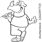 black and white illustration of ... | Shutterstock . vector #1262397715