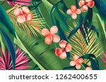 colourful seamless pattern with ... | Shutterstock . vector #1262400655