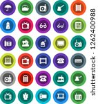 white solid icon set  washboard ... | Shutterstock .eps vector #1262400988