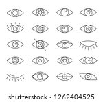 opened and closed linear style... | Shutterstock .eps vector #1262404525