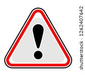 red attention sign triangular... | Shutterstock .eps vector #1262407642