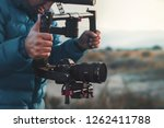 ANTALYA, TURKEY - DECEMBER 8, 2018: FILMING WITH DJI RONIN M AND SONY A7R III  - stock photo