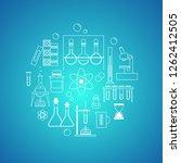 chemistry  science. set of... | Shutterstock .eps vector #1262412505