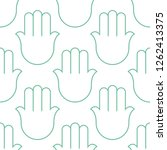 hamsa  seamless pattern.... | Shutterstock .eps vector #1262413375