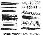 dry vector brush strokes  hand... | Shutterstock .eps vector #1262419768
