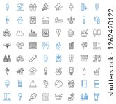 cold icons set. collection of... | Shutterstock .eps vector #1262420122