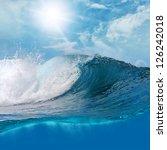 ocaen view seascape landscape...   Shutterstock . vector #126242018