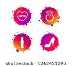 wedding slim dress icon. women...   Shutterstock .eps vector #1262421295