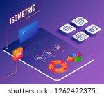 isometric vector. set of... | Shutterstock .eps vector #1262422375