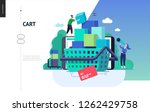business series  color 3  cart  ... | Shutterstock .eps vector #1262429758