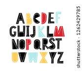 abstract vector alphabet for... | Shutterstock .eps vector #1262429785