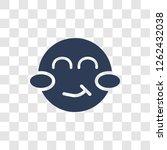 blushing emoji icon. trendy... | Shutterstock .eps vector #1262432038