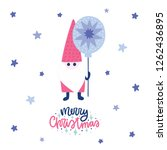 colorful christmas vector card. ... | Shutterstock .eps vector #1262436895