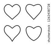 heart icon love symbol set.... | Shutterstock .eps vector #1262438728