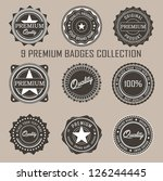 badges collection. vector | Shutterstock .eps vector #126244445