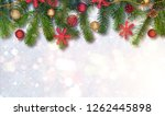 christmas background with... | Shutterstock . vector #1262445898