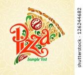 pizza design template | Shutterstock .eps vector #126244682