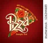 pizza design template | Shutterstock .eps vector #126244685